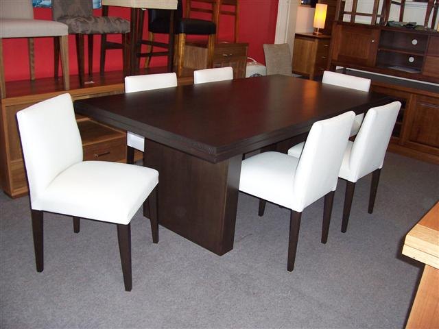 Contemporary Refectory Dining Table With City Low Back Chairs