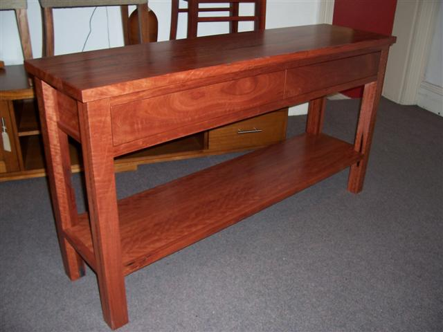 Red Gum Hall Table 1500 X 400 X 800h